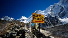 Schild zum Mount Everest